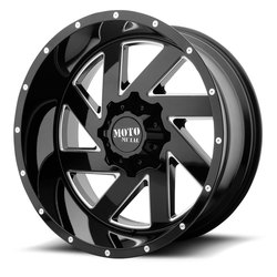 Moto Metal Wheels MO988 Melee - Gloss Black Milled Rim - 20x12