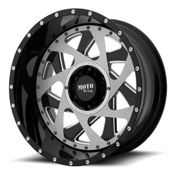 Moto Metal Wheels MO989 - Gloss Black Milled With Brushed Inserts Rim - 20x12