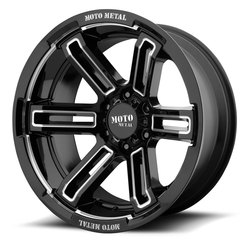 Moto Metal Wheels MO991 Ruckus - Gloss Black Milled Rim - 20x12