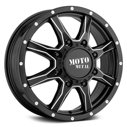 Moto Metal Wheels MO995 Dually Front - Satin Black Milled Rim