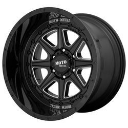 Moto Metal Wheels MO801 PHANTOM - Gloss Black Milled - 24x12