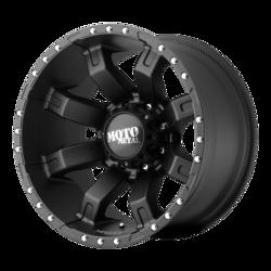 Moto Metal Wheels MO968 - Satin Black With Clearcoat Rim