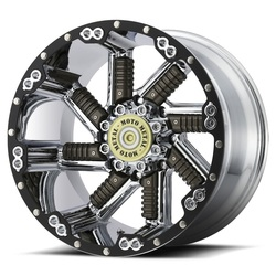 Moto Metal Wheels MO979 Buckshot - Chrome w/Gun Metal Inserts - 22x12