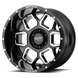 Moto Metal Wheels MO981 Spade - Gloss Black Machined - 22x12