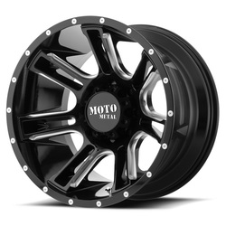 Moto Metal Wheels MO982 AMP - Gloss Black Milled Rim - 24x12