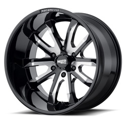 Moto Metal Wheels MO983 Dagger - Gloss Black Milled Rim - 22x10