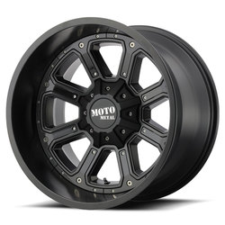 Moto Metal Wheels MO984 Shift - Matte Black With Gloss Black Inserts - 22x14