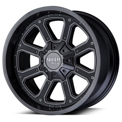 Moto Metal Wheels MO984 Shift - Matte Gray With Gloss Black Inserts - 22x14