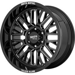 Moto Metal Wheels MO802 - Gloss Black Milled Rim - 22x10