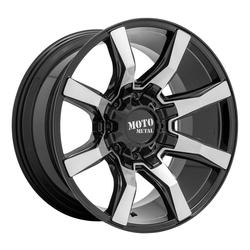 Moto Metal Wheels MO804 Spider - Gloss Black Machined Rim - 22x10