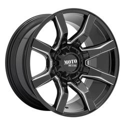 Moto Metal Wheels MO804 Spider - Gloss Black Milled Rim - 22x10