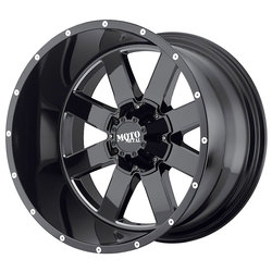 Moto Metal Wheels MO962 - Gloss Black w/Milled Accents - 22x14