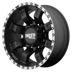 Moto Metal Wheels MO968 - Satin Black With Machined Flange