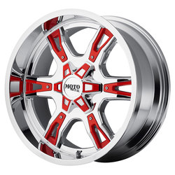 Moto Metal Wheels MO969 - Chrome w/Red And Black Accents - 22x12