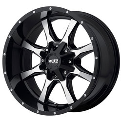 Moto Metal Wheels MO970 - Gloss Black With Machined Face Rim - 22x10