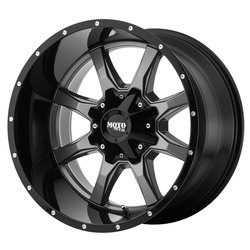 Moto Metal Wheels MO970 - Gloss Gray Center w/Gloss Black Lip Rim - 22x10
