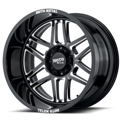Moto Metal Wheels MO992 Folsom - Gloss Black Milled Rim - 22x10