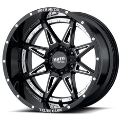 Moto Metal Wheels MO993 Hydra - Gloss Black Milled Rim - 20x12