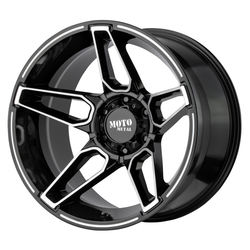 Moto Metal Wheels MO994 Fang - Gloss Black Machined Rim - 20x12