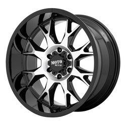 Moto Metal Wheels MO806 Talon - Gloss Black Machined Rim - 22x12