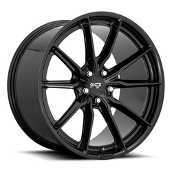 Niche Wheels M240 Rainier - Gloss Black Rim - 22x10.5