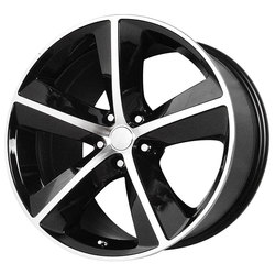 OE Creations Wheels 123 - Gloss Black/Machined Spokes And Lip Rim
