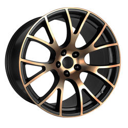 OE Creations Wheels 161 - Black / Bronze Rim - 22x11
