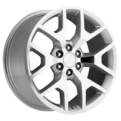 OE Creations Wheels OE Creations Wheels PR169 - Silver/Mach Spokes & Lip