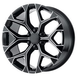 OE Creations Wheels PR176 - Gloss Black Milled Rim