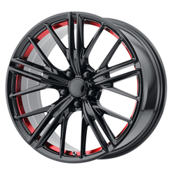 OE Creations Wheels PR194 - Gloss Black / Red Machined Rim