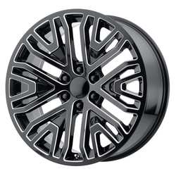 OE Creations Wheels PR197 - Gloss Black / Milled Rim