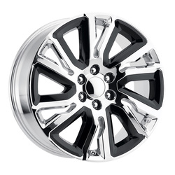 OE Creations Wheels PR202 - Chrome With Gloss Black Accents Rim
