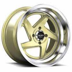 Ruff Wheels R368 - GOLD W/MACHINED LIP Rim