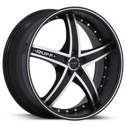 Ruff Wheels R953 - GLOSS BLACK W/ MACHINED FACE Rim