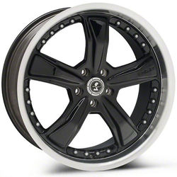 Carroll Shelby Wheels SB198 Razor - Gloss Black w/Diamond Cut Lip Rim