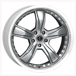 Carroll Shelby Wheels SB198 Razor - Gunmetal w/Machined Lip Rim - 20x9