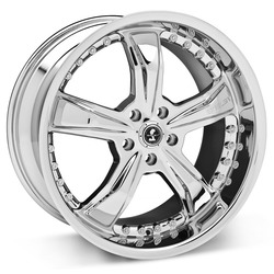 Carroll Shelby Wheels SB698 Razor - Chrome Rim - 20x9