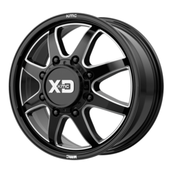 XD Series Wheels XD845 Pike Dually Front - Gloss Black Milled - Front Rim - 22x8.25