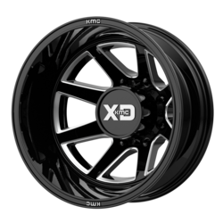 XD Series Wheels XD845 Pike Dually Rear - Gloss Black Milled - Rear Rim - 22x8.25