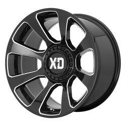XD Series Wheels XD854 Reactor - Gloss Black Milled Rim