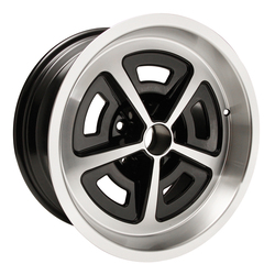 Yearone Wheels Magnum Ford Mopar - Black Powder Coated / Machined Lip Rim