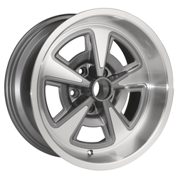 Yearone Wheels Rallye II - Gunmetal gray with machined lip Rim