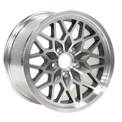 Yearone Wheels Snowflake - Gunmetal painted recesses Rim