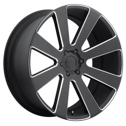 DUB Wheels 8-Ball (S187) - Black & Milled Rim - 24x10