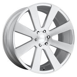 DUB Wheels 8 Ball (S213) - Gloss Silver Brushed Rim - 24x10
