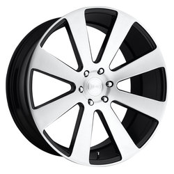DUB Wheels 8-Ball (S214) - Gloss Black Brushed
