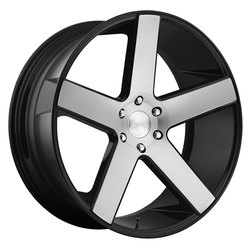 DUB Wheels Baller (S217) - Gloss Black Brushed Rim - 22x9.5