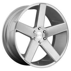 DUB Wheels Baller (S218) - Gloss Silver Brushed Rim - 24x10