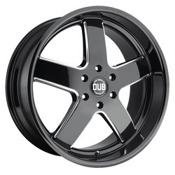 DUB Wheels Big Baller (S223) - Gloss Black & Milled - 24x10