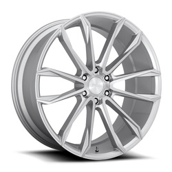 DUB Wheels Clout (S248) - Gloss Silver Brushed Rim